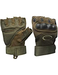 LALA LIFE Half Finger Hard Knuckle Motorcycle Arm Shooting Outdoor Gloves Gym & Fitness Gloves