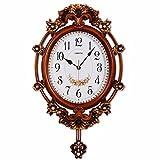 DIDADI Wall Clock Orologi da parete di stile europeo casa quando guardano i grafici di parete tranquilla camera da letto salotto eleganti antico orologio a pendolo