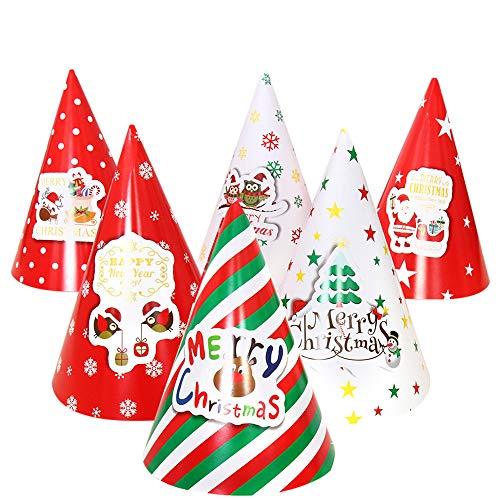 Kostüm Hip Christmas Hop - SuperSU Frohe Weihnachten ➱➲ 6 Stücke Partyhüte Kind Erwachsene Nikolausmütze Weihnachtsmütze,Weihnachtsdeko Xmas Party Deko für Kinder Weihnachtsmann Kostüm