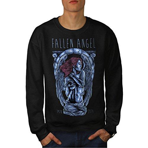 Gefallen Engel Kunst Mode Herren M Sweatshirt | Wellcoda