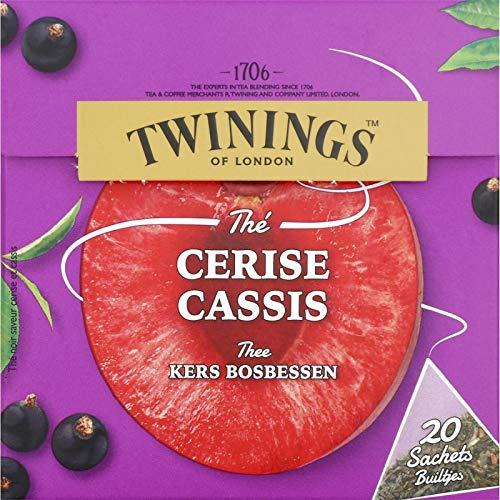 Twinings - 20 Sachets Cerise Cassis - Livraison Gratuite pour les commandes en France - Prix Par Unité