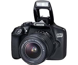Canon EOS 1300D Reflex Kit Fotocamera Digitale da 18 Megapixel, Wi-Fi, NFC, Nero/Antracite + Obiettivo EF-S DC III 18-55 mm