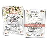 50 Einladungskarten zur Hochzeit - Vintage Rosen • Hochzeitseinladungen Hochzeitskarten