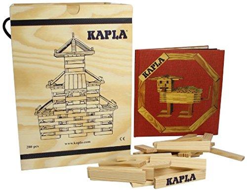 Preisvergleich Produktbild Kapla Holzbaukasten 280 Steine in Holzksite mit Kunstbuch