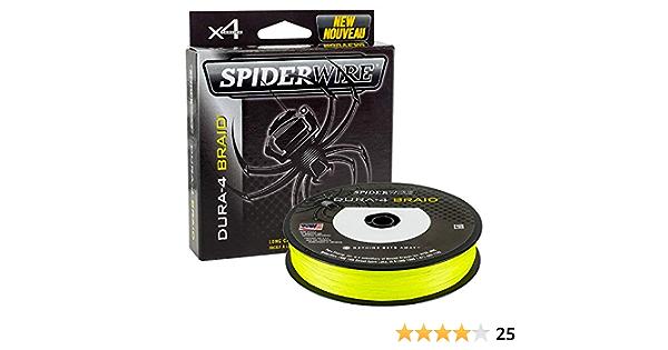 Spiderwire Dura-4 Flechtleine 150m Gelb 33lb//15kg 0.17mm