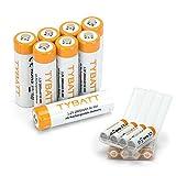 TYBATT Piles AA Rechargeables 2800mAh Ni-MH Batterie, 1200 cycles, lot de 8