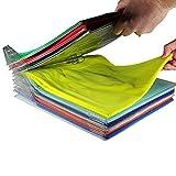 klappbare Board Aufbewahrung T-Shirt Kleidung Ordner Organizer Racks Langlebig faltenfrei 10/Set für Wandschränke Baby Zimmer Familien