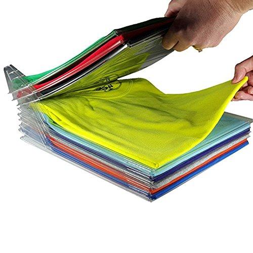 SINOTECH Kleidung Organisation System–100/Set T-Shirt Kleidung Ordner großen Magic Schnelle Wäsche Organizer Zusammenklappbar Board Regal