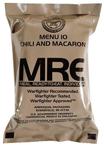 Militär US Army MRE NATO Lebensmittelverhältnis Notfallkampf Überlebens Camping Mahlzeit 1-24 - 3# Chicken, Noodles and Vegetables, in Sauce (Datum-sauce)