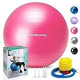 Palla da ginnastica/Palla Fitness,yoga palla equilibrio per fitness pilates palestra di yoga(65 cm,Rosa)