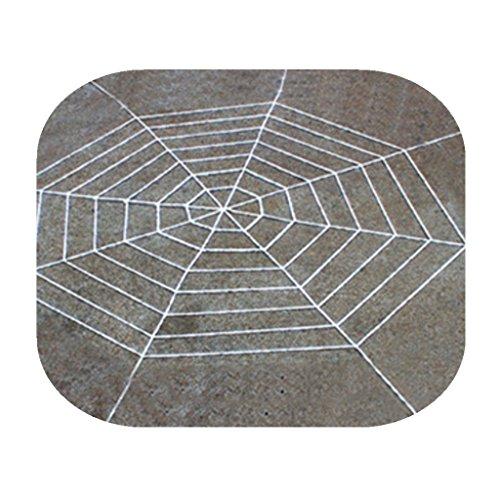 (KAIMENG Halloween Stretch Spinnennetz für Halloween Dekor Dekorationen Außen Hof - erschrecken Ihre Nachbarn (Weiß, 7 Runden))