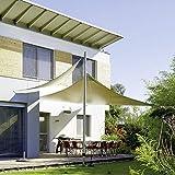 CelinaSun 0010470 Sonnensegel Sonnenschutz Garten   UV Schutz wetterbeständig HDPE atmungsaktiv   Dreieck 3 x 3 x 3 m sand-beige - 4