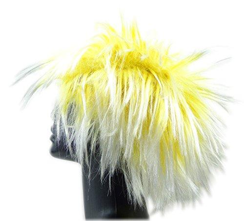 Perücke Punk Fasching Frisur 4385 Karneval Neon Haar Peruecken (GELB) (Neon Perücken)