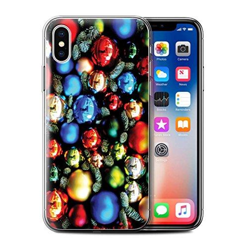 Stuff4 Gel TPU Hülle / Case für Apple iPhone X/10 / Baum Dekorationen Muster / Weihnachten Foto Kollektion Baum Dekorationen