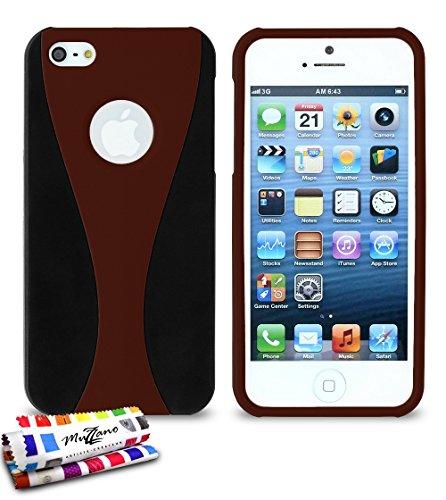 Bumper APPLE IPHONE 5S / IPHONE SE [Le Bumper Colors Premium] [Rosa] von Muzzano + UltraClear Pack 3Display Schutzfolie Transparent mit Stylus/Reinigungstuch für - Das ULTIMATIVE, ELEGANTE UND LANGLE Braun