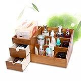 MMM Holz Farbe Tissue Box aus Holz kosmetisches Aufbewahrungsbehälter-Dresser Desktop-Storage Rack Holz Skin Care Products Lagerschrank