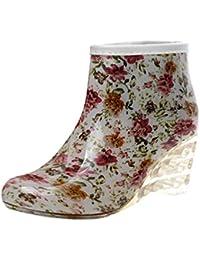 LvRao Zapatos de Gama Tacón Alto de las Mujeres Botas Lisas de Lluvia Nieve Botines Cortas