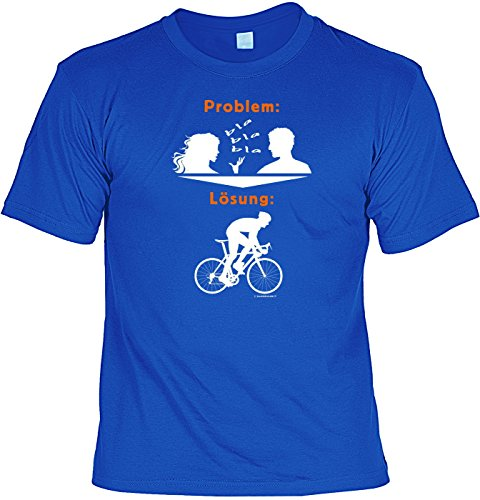 T-Shirt mit Urkunde - Fahrrad - die Lösung für Frauen Probleme - Lustiges Sprüche Shirt als Geschenk für Radler mit Humor (Hockey-t-shirts Lustige)