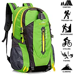 40L Mochila de Senderismo Ligero, Yunplus MúLtiples Funciones Impermeable Casual Mochila Camping Para Deporte Al Aire Libre Escalada Trekking Alpinista 52 X 33 X 16 cm