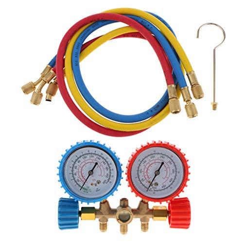 Fenteer Hochdruck Klimaanlage Doppel Druckmesser Druck Manometer Gauge