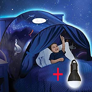 Beauté Top Enfants Pop Up Lit Playhouse Tent - Jumeaux (Winter Wonderland) (weltraumabenteuer + Liseuse)