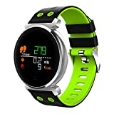 Sansee Smartwatch Armbanduhr, Wasserdicht IP68 Fitness Tracker für Damen Frauen Männer mit Schrittzähler, Schlafmonitor, Informationsspeicherung, Farbdisplay für ios und Android (Grün)