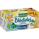 Blédina blédidej brique de lait et céréales saveur biscuité 4x250ml dès 6 mois - ( Prix Unitaire ) - Envoi Rapide...