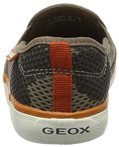 Geox Jr Kilwi Boy, Scarpe da Ginnastica Basse Bambino Marrone (Taupe/Orange C6048)