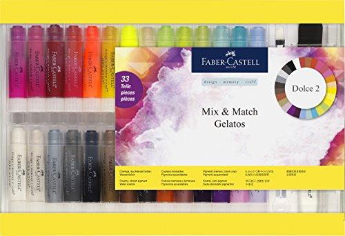 Faber-Castell 121834 – Estuche con 28 gelatos y 5 accesorios