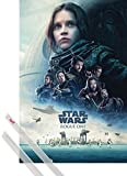Póster + Soporte: Star Wars Póster (91x61 cm) Rogue One, Cartel De Cine Y 1 Lote De 2 Varillas Transparentes 1art1