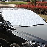 Cubierta de nieve parabrisas del coche, LeRan Cubierta impermeable para lluvia del parabrisas Protector para ventana universal plegable Espesor universal Película de aluminio Escarcha Sol(147*100cm
