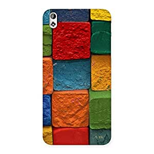 Stylish Color Cubes Multicolor Back Case Cover for HTC Desire 816s