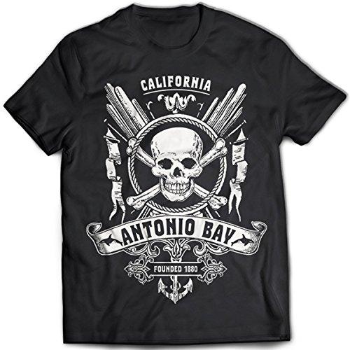 9285 Antonio Bay Herren T-Shirt The Fog KAB Radio 1340 John Carpenter Thing Horror 80s Schwarz