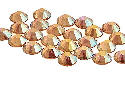 EIMASS® ELEMENTS Hotfix Glaskristalle mit flacher Rückseite, 1440 Stück, Peach Ab, 2 mm