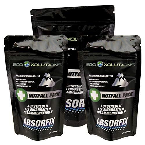 Absorfix Notfallpack fürs Auto   Geruchsentferner und natürliches Bindemittel für alle Flüssigkeiten   Absorbiert Erbrochenes, Urin, Öl, Benzin, Speisereste, Getränke, UVM. (2 x 25g + 1 x 100g)