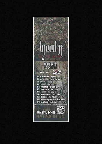 Breed 77-Die Evil Inside UK Tour 2013Mini Poster-28x 10cm (Papier-mini-jalousien)