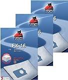 3 Pakete FXpro 16: 15 Staubsaugerbeutel, 3 Luftfilter, 3 Motorfilter für Philips S BAG AEG Gr. 200, AEG Essensio, AEO 5450, 205 Electrolux E 15, E 18 Privileg, City Line, Volta Mio