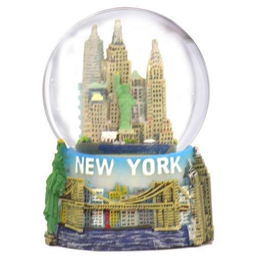 New York City Snow Globe mit der NYC Skyline in Diese Figur Erinnerung mit Freiheitsstatue, 6,3cm Höhe (45mm) -