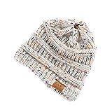 Elecenty Cappello e cappellini da donna Cappellino Slouchy a forma di berretto da sci lavorato a maglia con lana invernale lavorato a maglia