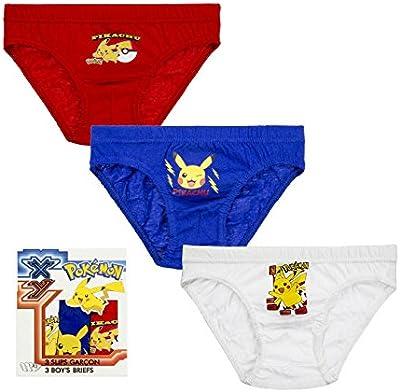 3 calzoncillos para niño pokemon Talla 4-5 años