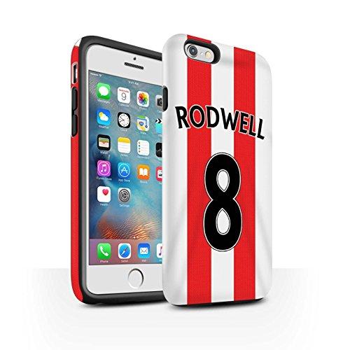 Offiziell Sunderland AFC Hülle / Matte Harten Stoßfest Case für Apple iPhone 6+/Plus 5.5 / Pack 24pcs Muster / SAFC Trikot Home 15/16 Kollektion Rodwell