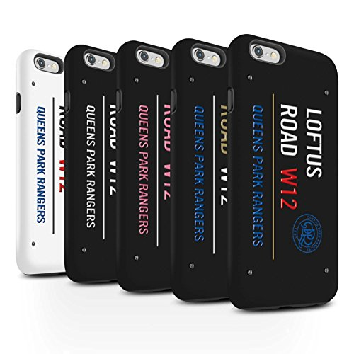 Officiel Queens Park Rangers FC Coque / Matte Robuste Antichoc Etui pour Apple iPhone 6 / Pack 8pcs Design / QPR Loftus Road Signe Collection Pack 8pcs