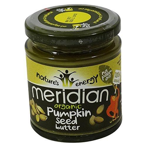 MERIDIAN - Burro di semi di zucca 100% senza olio di palma - Senza Glutine (Burro Biologico Nocciola)