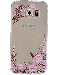 Coque Samsung Galaxy S6 Edge Gel de Silicone Housse, Coffeetreehouse (motifs peints) Transparente Ultra Mince Antichoc Doux Souple Durable Résistant Aux Rayures Gelée Etuis Caoutchouc TPU Protecteur Coque Housse Pour Samsung Galaxy S6 Edge-HX7