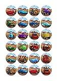 Cakeshop 24 x ESSBARE Disney Pixar Cars Kuchen Topper (Tortenaufleger, Bedruckte Oblaten, Oblatenaufleger)