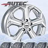 4 Winterräder Autec Xenos 7x17 ET49 5x114,3 Brillantsilber mit 225/60 R17 99H Hankook Winter i*cept evo2 W320 für Kia Sportage
