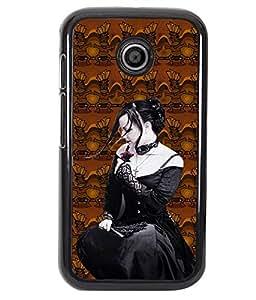 PrintVisa Metal Printed Girly Designer Back Case Cover for Motorola Moto E/ E Dual sim -D4665