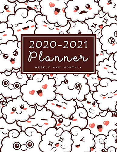 2020-2021 Weekly & Monthly Planner: 2 Year Calendar Schedule, Squares Quad Ruled, Dot Notes, Monthly Goals Setting,Action Plan, No Holiday Kawaii Girls Women  (January 2020 through December 2021)