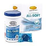 Camp4 All Tabs Toilettentabletten 15 st für Abwassertanks + 4 Rollen Camp 4 All Soft Toilettenpapier für Wohnmobil und Boot