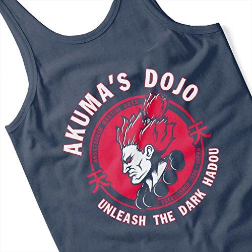 Cloud City 7 Street Fighter Akuma Demon Dojo Women's Vest Navy blue